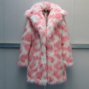 Teddy Bear Coat Rainbow Fur Plush Jacket With Led Faux Fur Coat Designs Printed Warm Slim Casual High Quality Elegant Thick