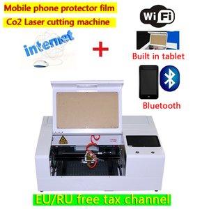 LY smart mini mobile fiber tempered glass screen protector film co2 laser cutting machine 30W 220V 110V free update programs