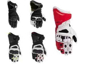 2019 Ocio larga distancia motocicleta Dain del cuero auténtico de la motocicleta Guantes largos guantes de carreras de conducción de motos de cuero de vaca