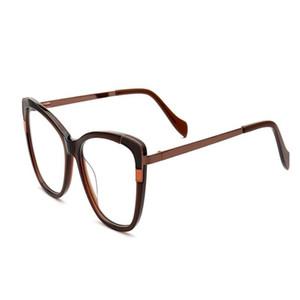 MONGOTEN Мода женщин ретро Cat Eye Design Предписания Объектив Оптический очки кадров Антибликовое Goggle Чтение очки