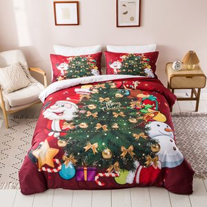 bedding sets christmas queen bed comforters sets 3D digital printing bedding Christmas series decorations