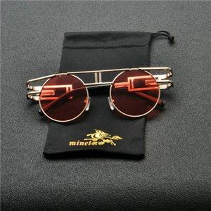 2020 Punk Oversized Round Sunglasses Urban Women Luxury Large Frame Red Green Sun Glasses Female Vintage Shades Eyewear UV400 NX