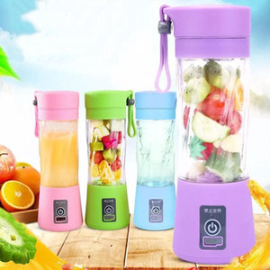 Portable USB Electric Fruit Juicer Handheld Vegetable Juice Maker Blender Rechargeable Mini Juice Making Cup With Charging Cable Free Ship