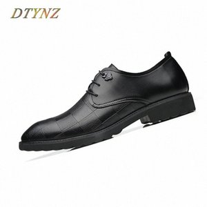 DTYNZ Modern Business Leather Shoes Men Formal Breathable Shoes New 2018 Autumn Wedding Non Slip Outsole Hard Wearing Footwear EHNf#