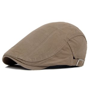 Idopy Men`s Women`s Cotton Newsboy Caps All Season Breathable Ivy Irish Adjustable Classic Comfy Paperboy Hats Unisex Hats