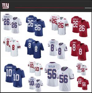 26 Saquon Barkley Nuevamaillot YorkMens 8 Daniel Jones 10 Eli Manning 56 Lawrence Taylor gigantecosido NYFútbol jerseys