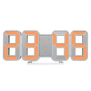 Wall Clock 3D LED Large Time Calendar Temperature Desk Table Morden Design Digital Watch Auto Backlight Home Decor Alarm Clocks