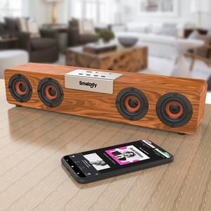 Smalody inalámbrica Bluetooth altavoz de subgraves con barra de sonido de color llevado efectos de luz altavoz estéreo de la computadora de la lámpara luminosa TV Sonido bar