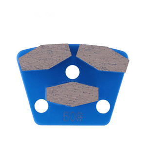 Blastric Trapeozid Grinding Plates with Triple Hexagonal Segments Diamond Grinding Tool for Concrete BLASTRAC Grinder 12PCS
