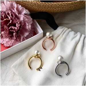 Rose Gold Plate Made with Pearl Ball Elgent Women Ring Wholesale Jewelry for Women Top Quality