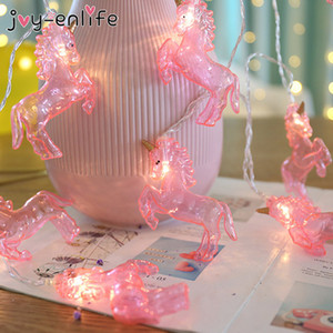 1set 1.5M 10Leds Unicorn Night String Lights Lamps Party Decoration Wall Home Ornament Unicorn Party Birthday Wedding Decoration C0927
