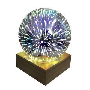 Magic Ball lâmpada de bola de vidro colorido Starry Sky Estrela borboleta da noite crianças luz do quarto GGA3711 presentes transporte marítimo de Decoração de Natal