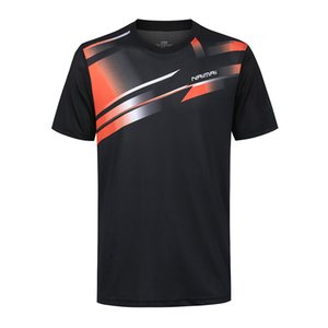 نيو السريع الجافة الريشة قميص رجل / إمرأة الريشة الرياضية t-shirt قميص تنس الطاولة تنس ارتداء جاف بارد قميص 5061