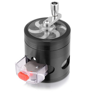 Herb Grinder, Premium Hand Cranked Design, Higher Volume - 3 Separation Chambers Contain Drawer and Powder Separator