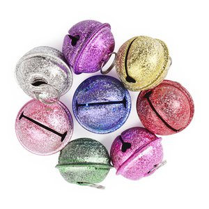 10pcs Colorful metallo del ferro di Jingle Bell decorazione decorazioni di Natale Pet i pendenti chiave fai da te accessori fatti a mano Crafts