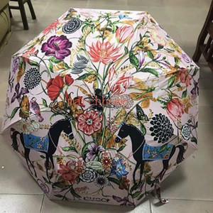 Jh هدية مربع عالية الجودة كامل مظلة التلقائي شطف واقية والأشعة فوق البنفسجية مظلة الشمس مظلة النساء أزياء زهرة نمط مظلة شحن مجاني