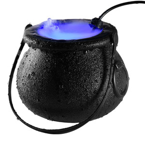 1 pc Halloween witch atomizer lamp Halloween decoration witch frosted pot Fog Machine lighting Color Changing atmosphere fog Maker