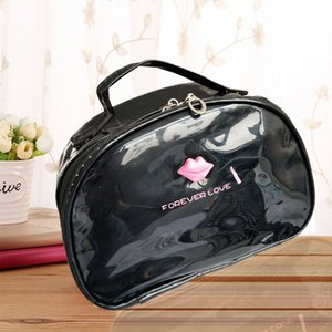 2020 2020 Women PU Leather Large Shell Cosmetic Bag Womens Waterproof Clutch Bag Wash Handbag Storage With Mirror Socket IHwG#
