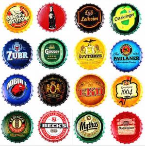 كورونا إضافية خمر جولة علامة القصدير غطاء زجاجة غطاء تصميم البيرة البيرة معدن شريط ملصق الحرف المعدنية لشريط المنزل مطعم القهوة DHB1320