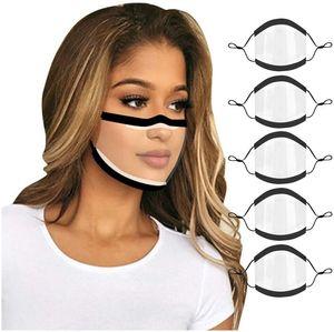 DHL Designer Clear Полный Прозрачные маски Защитные лица дышащий Глухонемой губ Язык Маска для взрослых Мужчины Женщины