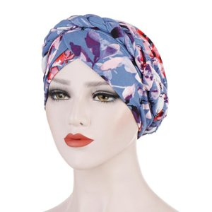 Women India Hat Muslim Ruffle Femme Musulman Cancer Chemo Beanie Turban Wrap Scarf Cap Islamic Head Cover Hair Loss Hats #YJ