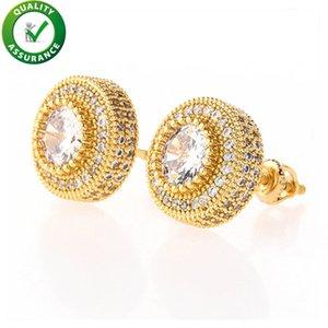 Luxury Designer Earrings Hip Hop Jewelry Fashion Earrings Mens Diamond Earings Iced Out Stud Earing Bling Rapper Men Hiphop Accessories