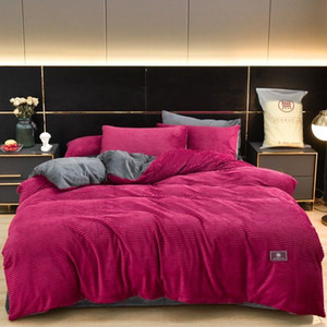 original Classic Thick Bedding Cover New Arrivals Nordic Pure Color Bedding Sets Winter High Quality Hot Sale Bedding Sheets