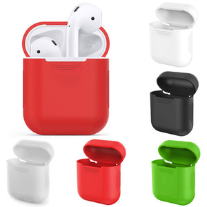 TCT 10pcs for Airpods Portable Silicone Case for Wireless Bluetooth Earphone Headset Protective Cover Anti-lost Rope Airpods Case