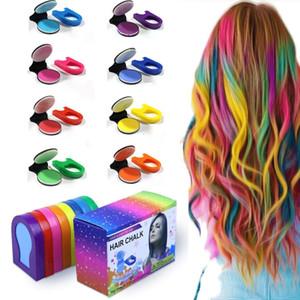 Factory Supplier Wholesale Hot 8 Colors Hair Portable Disposable Chalk Powder Temporary Pastel Hair Dye Color Paint Pastels Salon Styling