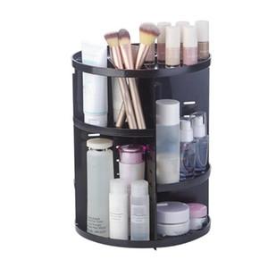 360° Rotating Makeup Storage Organizer Brush Holder Jewelry Organizer Case Jewelry Makeup Cosmetic Storage Box Shelf Baskets