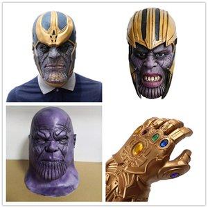 Делюкс Танос маска Бесконечность Перчатка Бесконечности войны перчатки Шлем Косплей Танос Маски Halloween Party Коллекция реквизит
