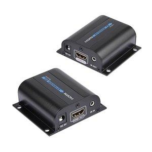 LKV372A 60m 196ft HDMI Extender HD Video Audio Encoder Decoder Dönüştürücü Gönderici Alıcı sinyali üzerinde RJ45 UTP Cat6 ağ kablosu