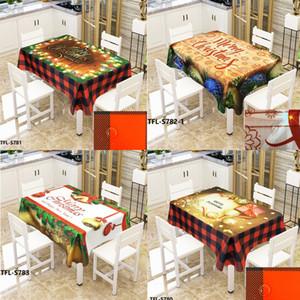 Bell di Natale 3D ha stampato il modello rettangolare Tovaglie Xmas Party Picnic antipolvere Tabella della copertura del panno del tè comodino Mat