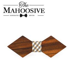 Bowtie Mahoosive Madeira de madeira dos homens laço macho negócio visita do casamento gravatas Bowtie Vestidos Gravata Borboleta