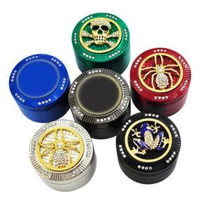 Grinder Diamant Motif tabac Spice Muller Crusher Grinder 4 couches Diamètre fumée Grinders tuyau Accessoires DHL