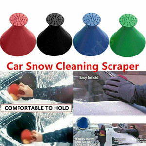 New Snow Remover Magical Window Windshield Car Ice Scraper Cone Shaped Funnel Housekeeping Cleaning Tool 4 Colors CYZ2797