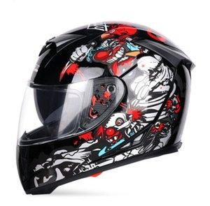 Jiekai Off-Road Motosiklet Lokomotif Tam Yüz Kask Açık Yarış Sürme Ekipmanları