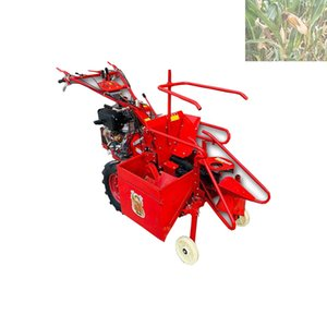 2020 Küçük ev kullanımı basit ve etkili harvestingCorn biçerdöver üreticisi küçük mısır hasat makinesi elle dizel mısır hasat