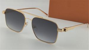 Nouvelle mode lunettes de soleil classiques en métal carré compact 1267 plein cadre et style élégant d'affaires aménagement extérieur classique vente chaude