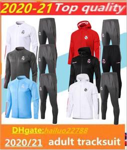 20 21 Real Madrid Football Sportswear Giacker Chandal 2020 2021 Camiseta de Futbol Hazard Bezema Modic Full Zip Hoodie Jacket Giacca sportswear