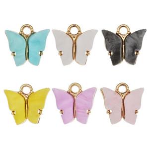 Charms farfalla fai da te acrilico a sospensione per i regali fatti a mano del braccialetto della collana Pendant Ornamento sacco DHB1311 Carino accessori dei monili 10pcs /