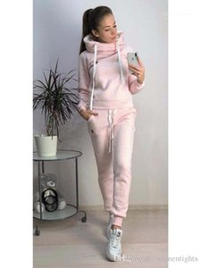 Thick Sports Women Suits Hoodies Pants 2pcs Tracksuits Clothing Sets Winter
