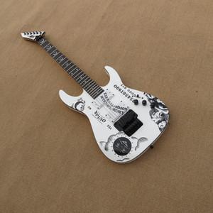 Custom White guitar black hardware HH pickups Ouija beautiful Electric Guitar,customized!es-3