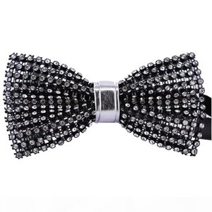 Grid Crystal Bow Tie High-grade Men's Business Event Host Performance Wedding Banquet Groom Suit Shirt Personality Bowtie Gifts