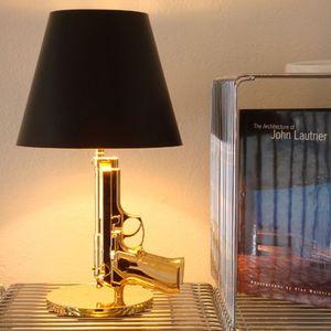 Modernes Harz Metall Gun Tischleuchte Villa Hotel Wohnzimmer Schlafzimmer neben Lese Schreibtisch-Licht-TA061