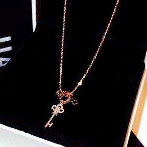 círculos Multi clave súper brillante circón diamante del diseñador de moda collar de mujeres niñas collar de oro