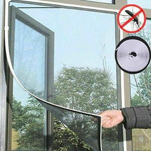 Сетка двери окна Волшебное занавес Привязать Fly Bug насекомых Москитная сетка экрана