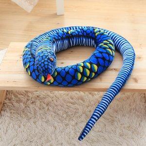 Реалистичная Boa Плюшевые игрушки Фаршированные Длинная змея животных кукла Взрослые Дети Творческий подарок на день рождения диван Председатель Декоративные плюша 280cm 4.5cm оо