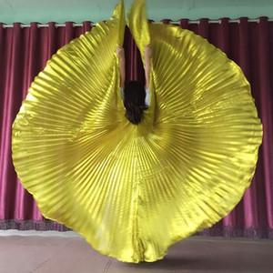 7xpZ2 asas douradas grandes e suaves asas barriga pano Belly Dance Dance grandes Props e adereços pano macio
