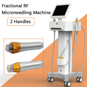 Microcurrent Face Lifting Machine Microneedling Radio Frequency Skin Rejuveation 기계 가정용 2 핸들 송료 무료